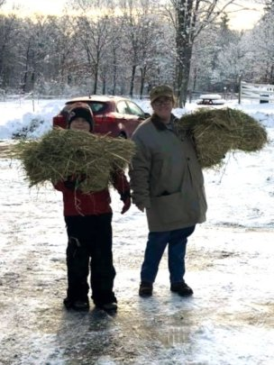 A little hay for after the work-out