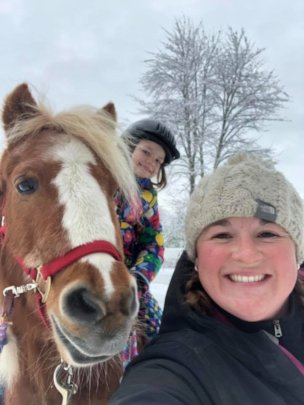 Yes we ride in the winter!