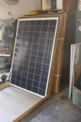 Solar panels out of the box before setting it up.