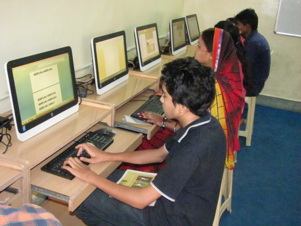 Both girls and boys take the Computer course