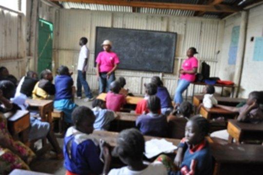 Girls in a class