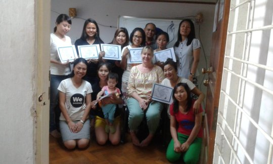 WAC participants receive their certificates