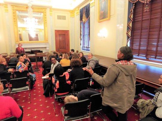 Telling Our Story to Senator Debbie Stabenow.
