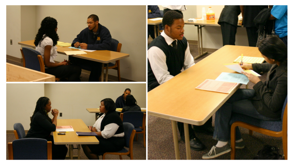 Mock Interview Sessions in the Career Academies.