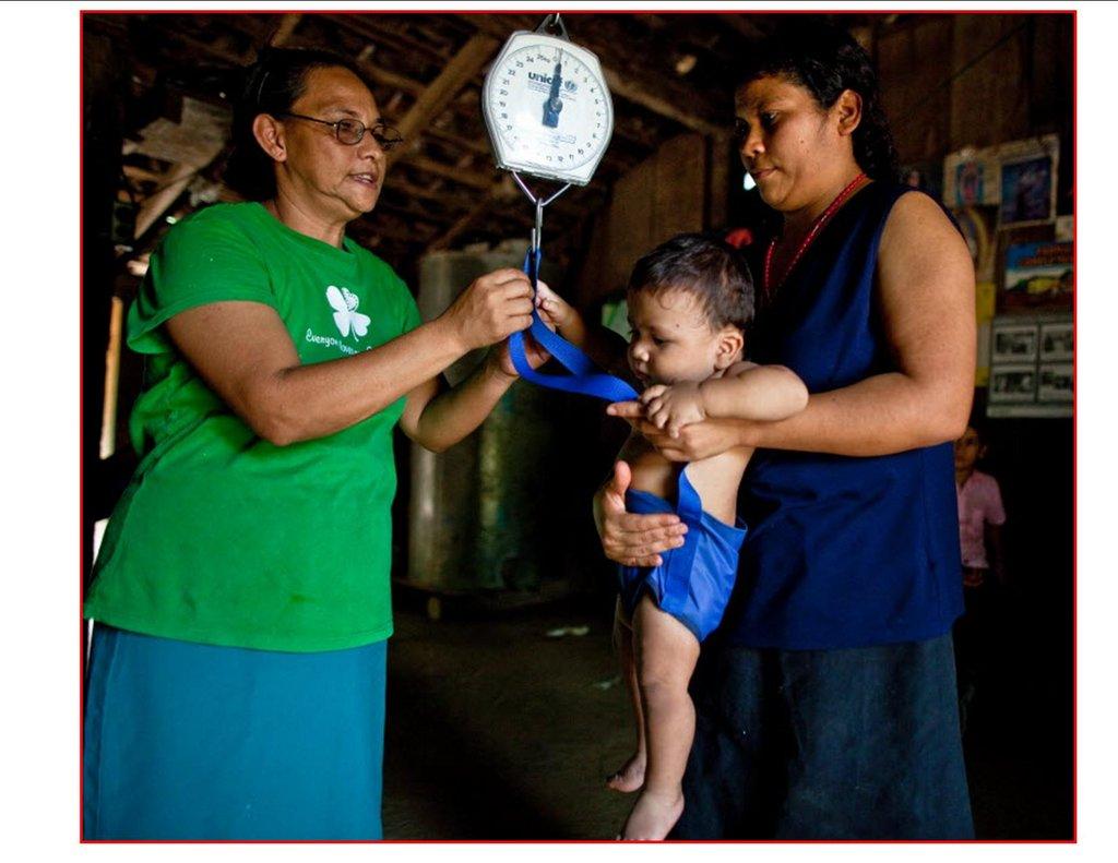 Community health worker in Nicaragua
