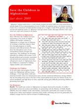 Afghanistan Fact Sheet (PDF)