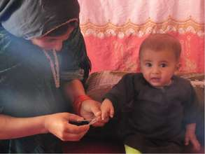 Child in Afghanistan receives care