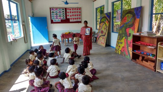 Sunshine Children enjoy picture telling