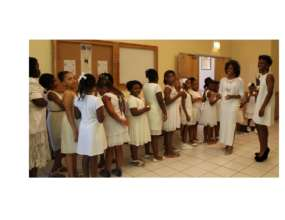 Welcoming girls in annual induction ceremony