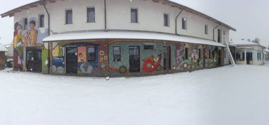 The new murales and the snow