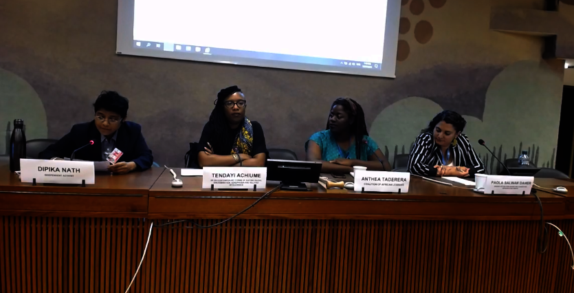 Intersectionality side event panel