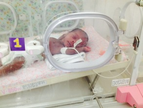 One of the many babies saved in our neonatal unit