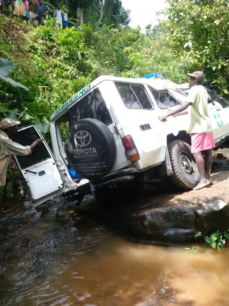 Ambulance in ravine