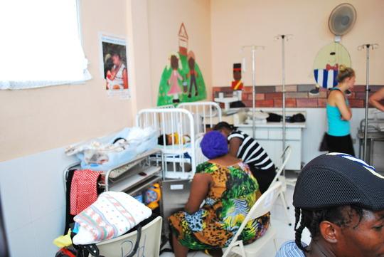 Frances in the Paediatric unit