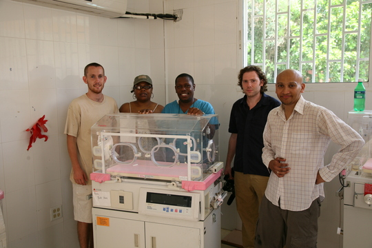 Our team with the new incubators!
