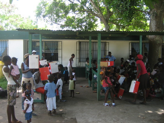 Women and children at our recent vaccination day