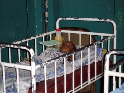 Baby in government hospital