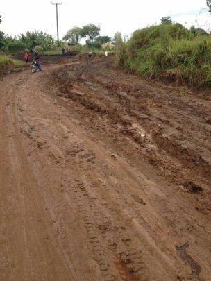 Impassable roads in the rainy season