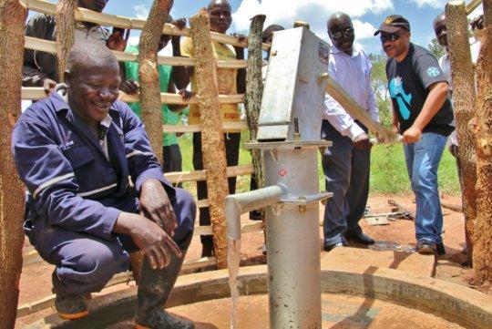 Lifeline testing the pump at Zanzibar B