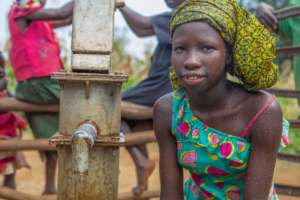 Mercy, age 13, from Agong B village in Uganda