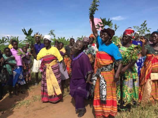 Borehole handover celebration at Alyeli village