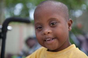 One of Robinson's friends at the respite home