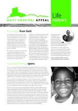 Haiti Hospital Appeal April Newsletter (PDF)