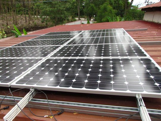 Children's home solar panels