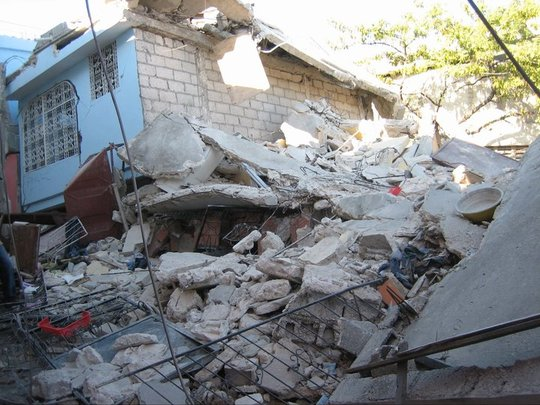 Devastation from the city where Mdm Woo Woo lived