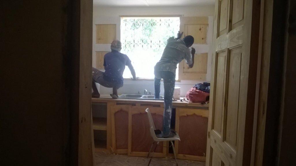 work on the kitchen