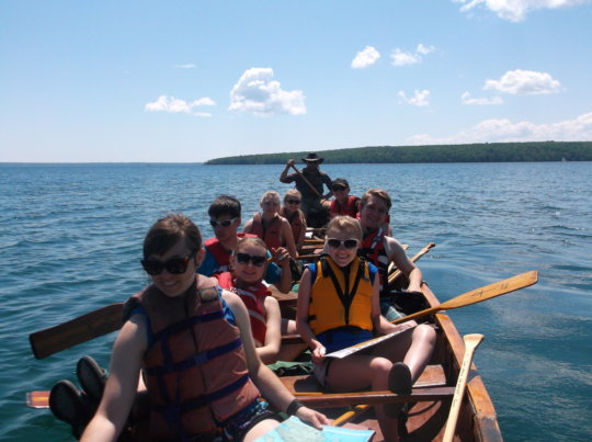 Group in the Apostle Islands