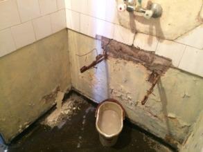 Hand wash basin area