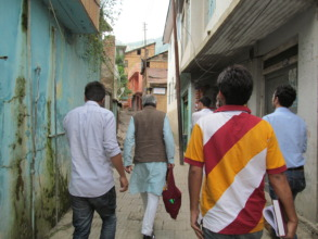 Swaraj Peeth team visiting area under curfew