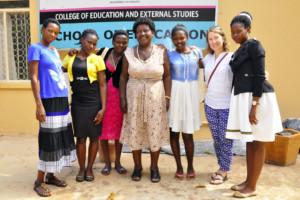 The five girls, Professor Kagoda and Amy