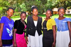 The five sponsored students from the project