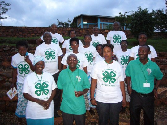 Burundi 4-H staff and schoolteachers at a training