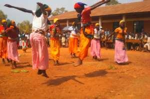 Girls Dancing at Open Door Garden Celebration