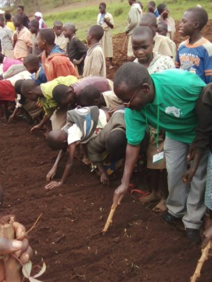 Students Preparing the Soil