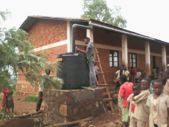 Installation of Water Catchment System at School