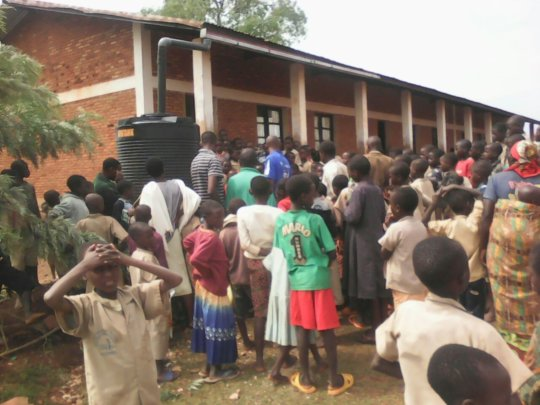 Students at Busangana School Interested in WCS