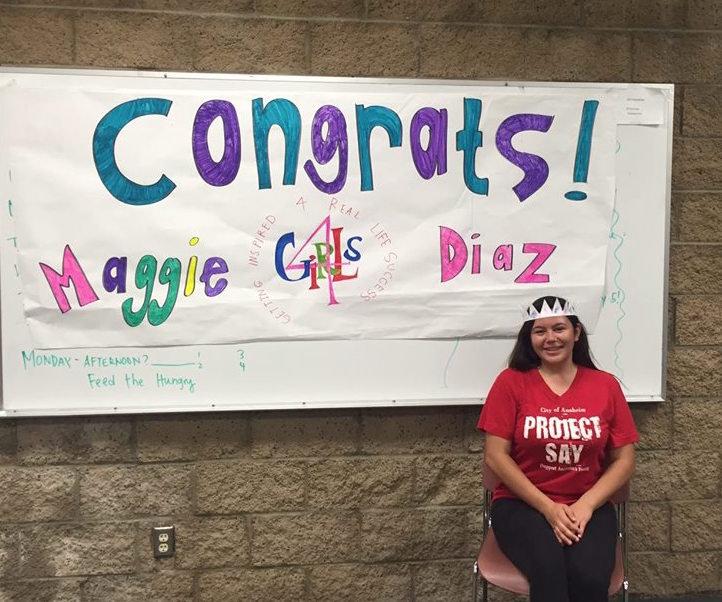 Maggie Diaz, 4GIRLS Scholarship Recipient