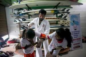 Teaching surfer girls self-defense