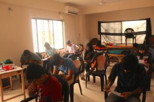 Volunteers taking their First Responder exams