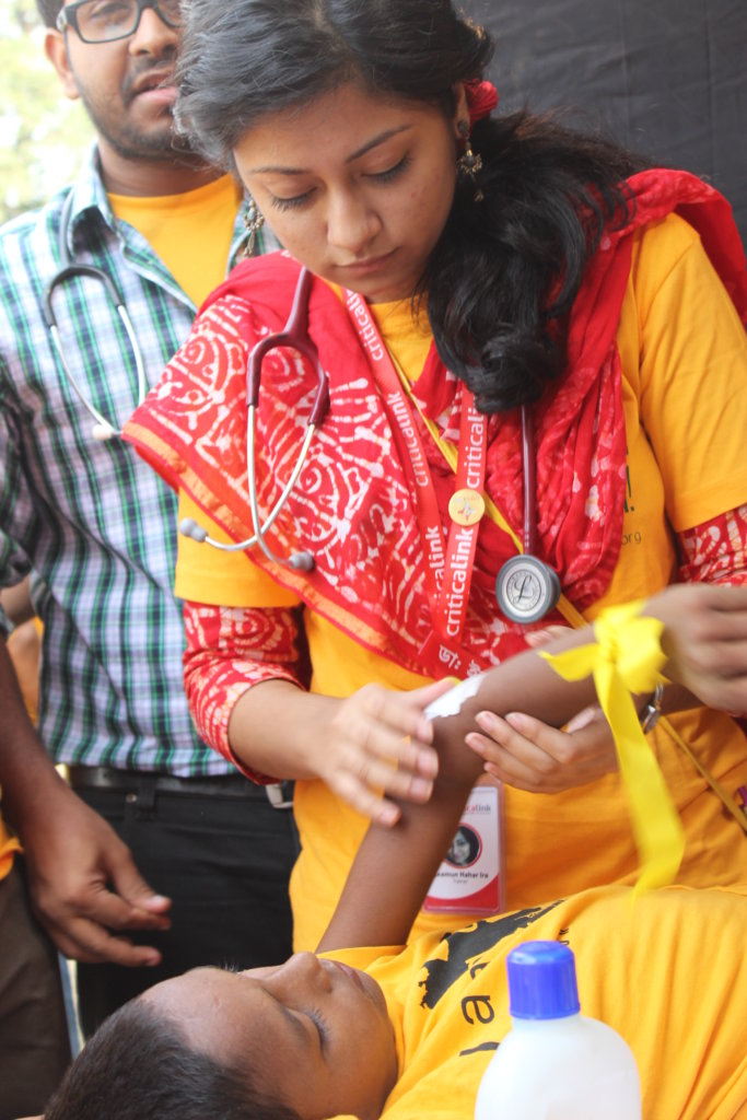 Get emergency help to injury victims in Bangladesh