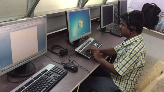 Shankar on his PC