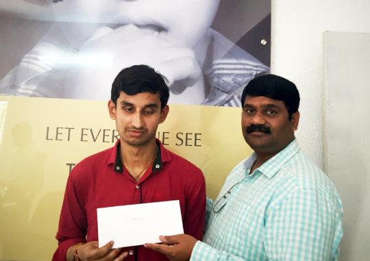 Education aid given in Bangalore, Karnataka