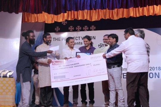 3rd Prize- Rajesh receiving his award.