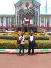 Caleb arrives at Moi University