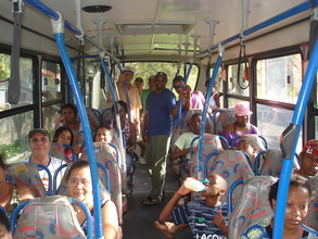 On the bus to the Wildlife Sanctuary.