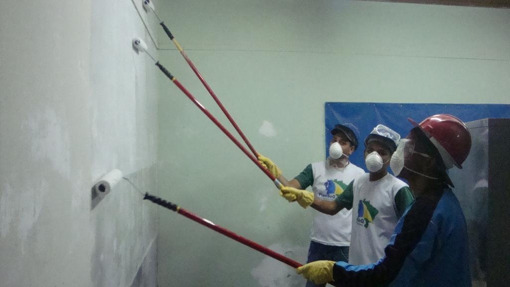 Painting classroom.